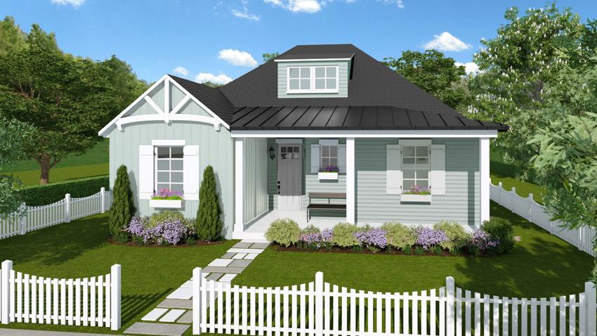 Cottage Series Rendering Rosewood