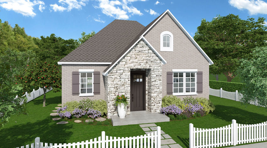 Cottage Series Rendering Sweetwater Elevation A
